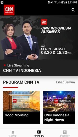 Aplikasi Mobile CNN Indonesia